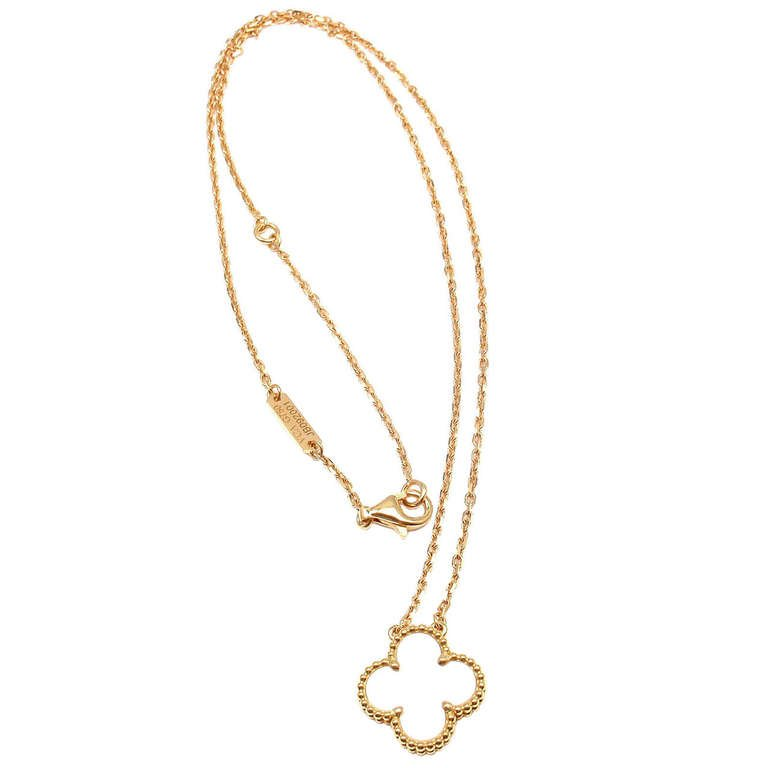 Van Cleef Vintage Alhambra Pendant Necklace