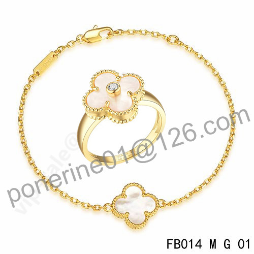replica van cleef & arpels ring and necklace