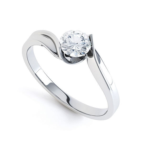 Unity Tension Set Twist Engagement Ring